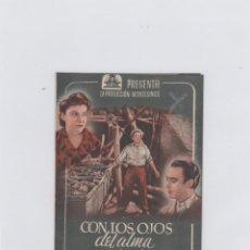 Cine: CON LOS OJOS DEL ALMA. PROGRAMA DE CINE. DOBLE CON PUBLICIDAD. CINE MUNICIPAL. CÁDIZ.. Lote 219289656