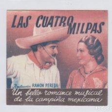 Flyers Publicitaires de films Anciens: LAS CUATRO MILPAS. PROGRAMA DE CINE. DOBLE CON PUBLICIDAD. CINE MUNICIPAL. CÁDIZ.. Lote 219289707