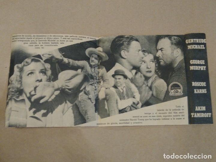 PROGRAMA DE CINE DOBLE CÓDIGO EN LA TRAMPA. 1940 TEATRO AMELIA. LUARCA. ASTURIAS. (Cine - Folletos de Mano - Acción)