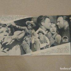 Cine: PROGRAMA DE CINE DOBLE CÓDIGO EN LA TRAMPA. 1940 TEATRO AMELIA. LUARCA. ASTURIAS.. Lote 219307348