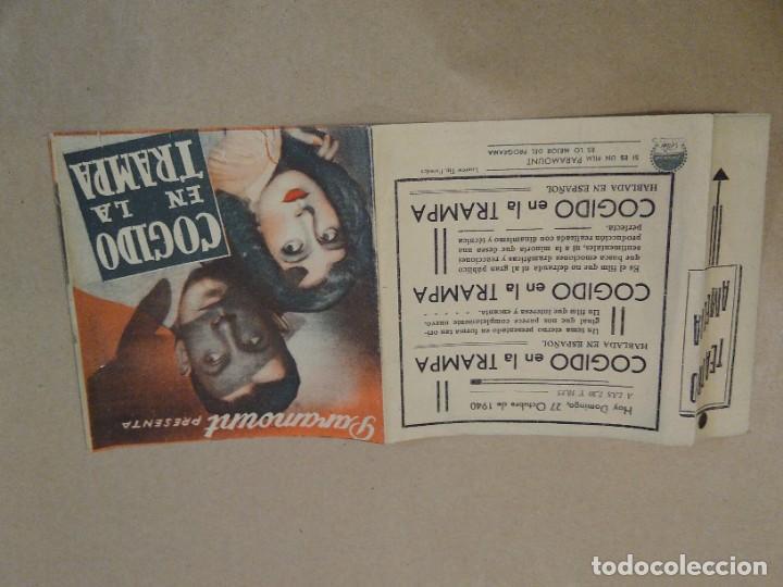 Cine: Programa de cine doble Código en la trampa. 1940 Teatro Amelia. Luarca. Asturias. - Foto 2 - 219307348