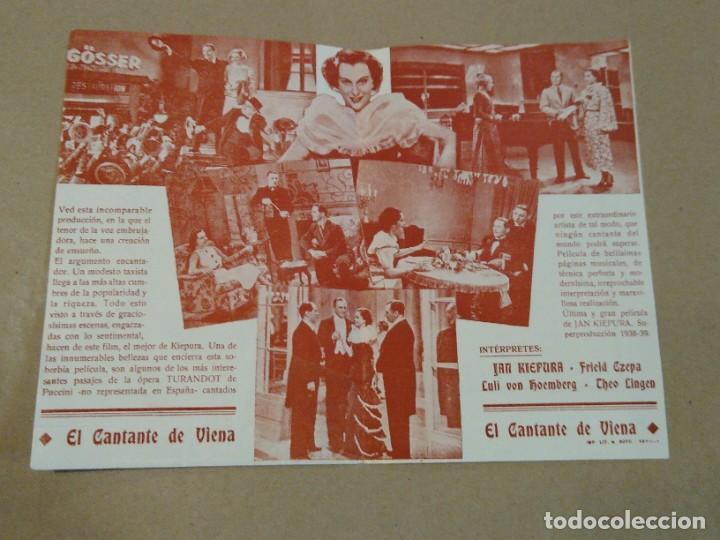 Cine: Programa de cine doble El cantante de Viena. Teatro Amelia. Luarca. Asturias. - Foto 2 - 219307941