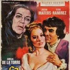 """Cine: CARTEL ORIGINAL DE LA PELÍCULA """"LA CELESTINA"""". DIMENSIONES 70 X 100 CM. EN BUEN ESTADO.. Lote 219377573"""