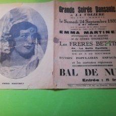 Cine: PDQUEÑO FOLLETO ACTRIZ ARGENTINA EMMA MARTÍNEZ 1932. Lote 219463865