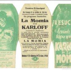 Cine: LA MOMIA -PROGRAMA TROQUELADO DIFÍCIL Y RARO. Lote 219477535