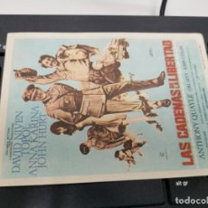 Flyers Publicitaires de films Anciens: PROGRAMA DE MANO ORIG - LAS CADENAS DE LA LIBERTAD - SIN CINE IMPRESO AL DORSO. Lote 219498922