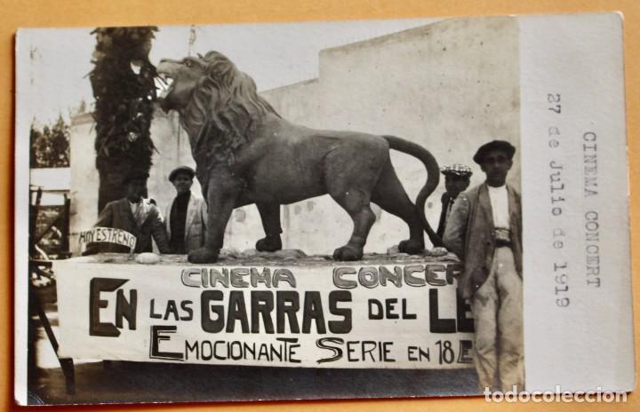CINEMA CONCERT- 1919- EN LAS GARRAS DEL LEON- EMOCIONANTE SERIE EN 18 EPISODIOS (Cine - Folletos de Mano - Documentales)