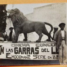 Foglietti di film di film antichi di cinema: CINEMA CONCERT- 1919- EN LAS GARRAS DEL LEON- EMOCIONANTE SERIE EN 18 EPISODIOS. Lote 219516962