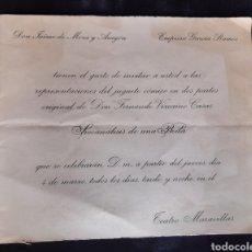 Folhetos de mão de filmes antigos de cinema: PROGRAMA DE TEATRO MARAVILLAS CON JAIME DE MORA Y ARAGON Y MARA MUISA MERLO . AÑO 1965.. Lote 219526222