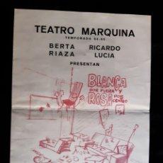 Folhetos de mão de filmes antigos de cinema: PROGRAMA DEL TEATRO MARQUINA CON BERTA RIAZA . AÑO 1964.. Lote 219540753