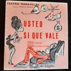 Folhetos de mão de filmes antigos de cinema: PROGRAMA DEL TEATRO MARAVILLAS CON LOS ACTORES ESPERANZA ROY Y ANTONIO CASAL . AÑO 66.. Lote 219546150