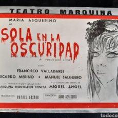 Cine: PROGRAMA DEL TEATRO MARQUINA CON LA ACTRIZ MARÍA ASQUERINO. AÑOS 60 - 70.. Lote 219547763