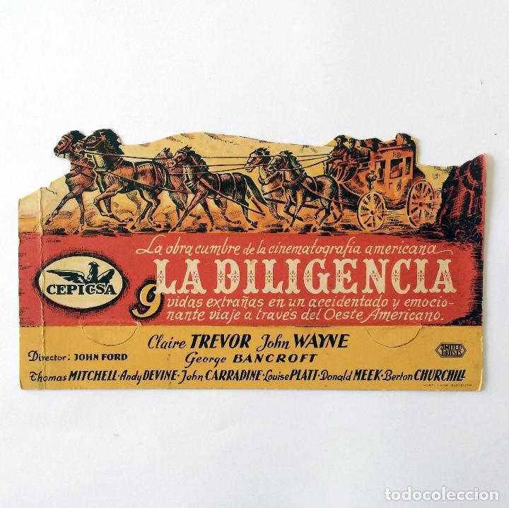 PROGRAMA CINE - LA DILIGENCIA - JOHN FORD - 1939 (Cine - Folletos de Mano - Westerns)