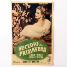 Cine: PROGRAMA CINE - SUCEDIÓ EN PRIMAVERA - 1948. Lote 219622121