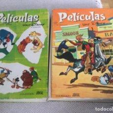 Cine: LOTE DE 2 LIBROS DE LA COLECCIÓN JOVIAL, PELICULAS WALT DISNEY, TOMOS 6 Y 7. Lote 219622745