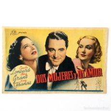 Cine: PROGRAMA CINE - DOS MUJERES Y UN AMOR - CARY GRANT - 1939. Lote 219623831