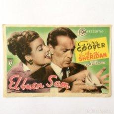 Cine: PROGRAMA CINE - EL BUEN SAM - GARY COOPER - 1948. Lote 219623907