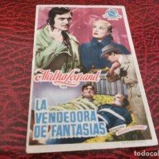 Cine: PROGRAMA DE MANO ORIG - LA VENDEDORA DE FANTASIAS - SIN CINE DE IMPRESO AL DORSO. Lote 219624258