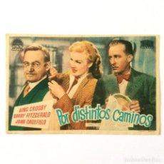 Cine: PROGRAMA CINE - POR DISTINTOS CAMINOS - BING CROSBY - 1947. Lote 219624797