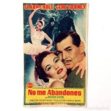 Cine: PROGRAMA CINE - NO ME ABANDONES - CLARK GABLE -. Lote 219624960