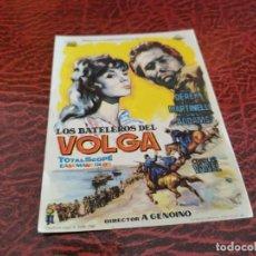 Cine: PROGRAMA DE MANO ORIG - LOS BATELEROS DEL VOLGA - SIN CINE DE IMPRESO AL DORSO. Lote 219628013