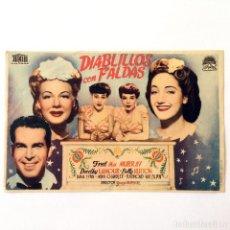 Cine: PROGRAMA CINE - DIABLILLOS CON FALDAS - 1944. Lote 219641030