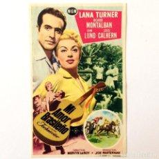 Cine: PROGRAMA CINE - MI AMOR BRASILEÑO - LANA TURNER - 1953. Lote 219641851