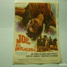 Flyers Publicitaires de films Anciens: PROGRAMA JOE EL IMPLACABLE- BURT REYNOLDS PUBLICIDAD. Lote 219643851