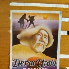 Cine: DERSU UZALA. (EL CAZADOR). FOLLETO DE MANO DE LA PELICULA DE AKIRA KUROSAWA.. Lote 219815241