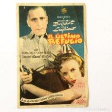 Foglietti di film di film antichi di cinema: PROGRAMA CINE - EL ÚLTIMO REFUGIO. Lote 219822200