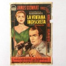 Foglietti di film di film antichi di cinema: PROGRAMA CINE - LA VENTANA INDISCRETA - ALFRED HITCHCOCK. Lote 219826556