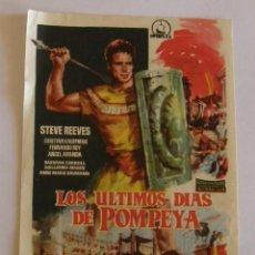 Cine: PROGRAMA DE CINE LOS ULTIMOS DIAS DE POMPEYA. Lote 219858743