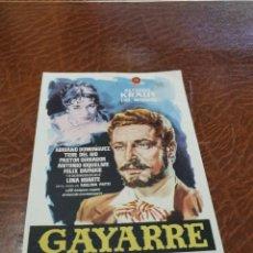 Cine: PROGRAMA DE MANO ORIG - GAYARRE - SIN CINE IMPRESO AL DORSO. Lote 219901715