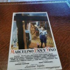Cine: PROGRAMA DE MANO ORIG - MARCELINO PAN Y VINO - CON CINE GUTIÉRREZ DE ALBA IMPRESO AL DORSO. Lote 219903550