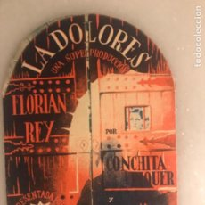 Flyers Publicitaires de films Anciens: PROGRAMA FOLLETO DOBLE LA DOLORES CIFESA.,CONE LA UNIÓN. ARGAMASILLA DE ALBA. Lote 219952335