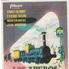 Foglietti di film di film antichi di cinema: PN - PROGRAMA DE CINE - LOS APUROS DE UN PEQUEÑO TREN - STANLEY HOLLOWAY - CINE PALAFOX (ZARAGOZA). Lote 263234120