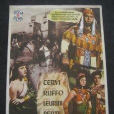 Cine: LA REINA DE SABA. GINO CERVI, LEONORA RUFFO. CINEMA LATORRE, ESCUCHA. PROGRAMA CON PUBLICIDAD. Lote 219975766