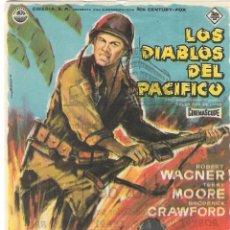 Flyers Publicitaires de films Anciens: PROGRAMA DE CINE - LOS DIABLOS DEL PACÍFICO - ROBERT WAGNER, TERRY MOORE - MÁLAGA CINEMA (MÁLAGA). Lote 220071445