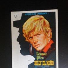 Cine: EL HOMBRE QUE MATÓ A BILLY EL NIÑO. Lote 220081035