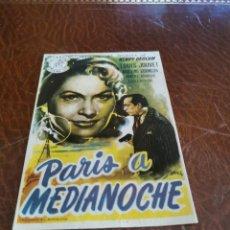 Flyers Publicitaires de films Anciens: PROGRAMA DE MANO ORIG - PARIS A MEDIANOCHE - SIN CINE IMPRESO AL DORSO. Lote 220093557