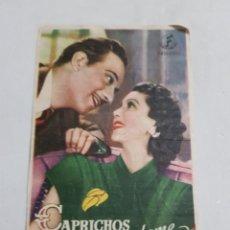 Foglietti di film di film antichi di cinema: PROGRAMA DE CINE CON PUBLICIDAD DE EPOCA ESTADO NORMAL MAS ARTICULOS EN ESTA SECCION. Lote 220142472
