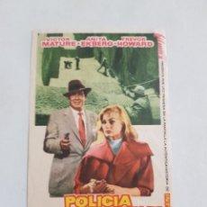 Flyers Publicitaires de films Anciens: PROGRAMA DE CINE CON PUBLICIDAD DE EPOCA ESTADO NORMAL MAS ARTICULOS EN ESTA SECCION. Lote 220227242