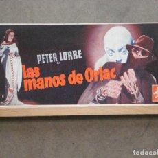 Flyers Publicitaires de films Anciens: LAS MANOS DE ORLAC PETER LORRE FRANCES DRAKE PROGRAMA DISPLAY ORIGINAL MGM ESTRENO. Lote 220235172