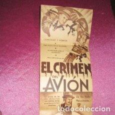 Cine: EL CRIMEN DEL AVION PROGRAMA CINE TRIPLE CINE IMPERIO DE GIJON C16. Lote 220235251