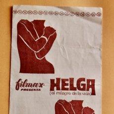 Cine: HELGA (EL MILAGRO DE LA VIDA). FILMAX . 1969.. Lote 220238512