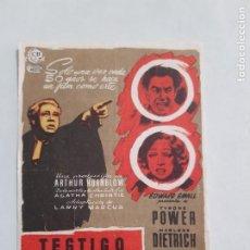 Flyers Publicitaires de films Anciens: PROGRAMA DE CINE GRANDE CON PUBLICIDAD DE EPOCA ESTADO NORMAL MAS ARTICULOS EN ESTA SECCION. Lote 220240352