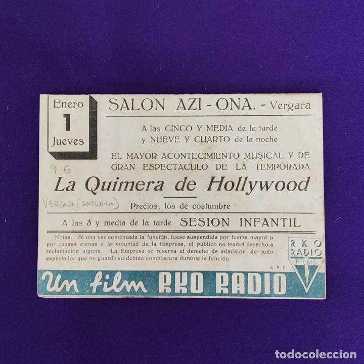 Cine: PROGRAMA DE CINE ORIGINAL. VERGARA (GUIPUZCOA). LA QUMERA DE HOLLYWOOD. NINO MARTIN. DOBLE. - Foto 3 - 220251026