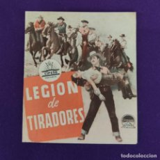Cine: PROGRAMA DE CINE ORIGINAL. VERGARA (GUIPUZCOA). LEGION DE TIRADORES. DOBLE.. Lote 220253252
