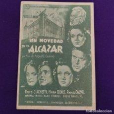Cine: PROGRAMA DE CINE ORIGINAL. VERGARA (GUIPUZCOA). SIN NOVEDAD EN EL ALCAZAR. SIMPLE.. Lote 220262196