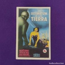 Cine: PROGRAMA DE CINE ORIGINAL. SEGOVIA. ULTIMATUM A LA TIERRA. SIMPLE.. Lote 220263812